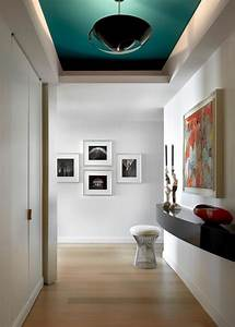 A, Dark, Or, Dramatic, Color, On, The, Ceiling, Can, Be, So, Striking, This, Hallway, Dresses, Up, The, Entire