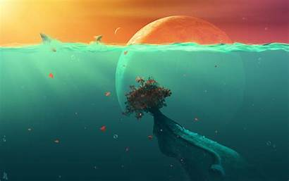 Ocean Fish Planet Deep Wallpapers Desktop Sea