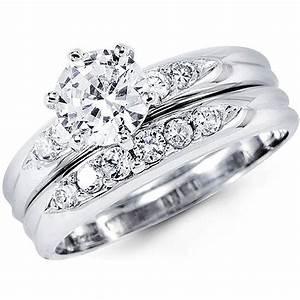 grand cz wedding ring sets white gold With white gold cz wedding ring sets