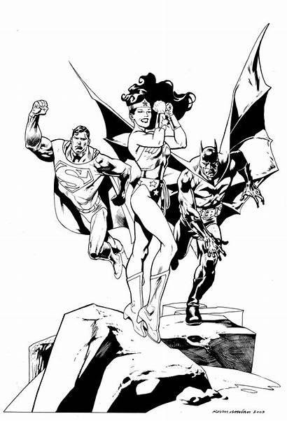 Superman Batman Coloring Woman Dc Comics Wonder