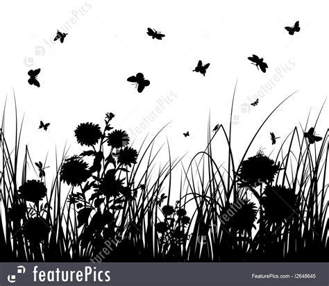 plants grass  flowers stock illustration