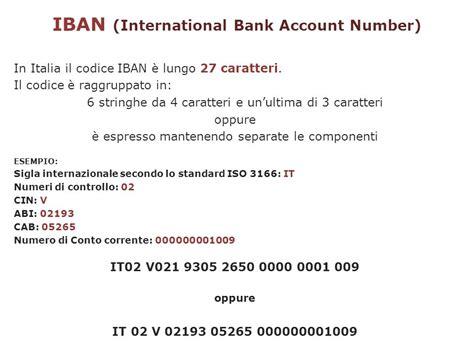 ricerca da codice iban lezione 18 gennaio 2012 strumenti di pagamento e conto