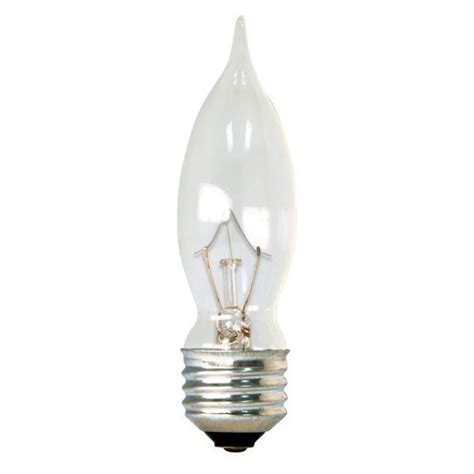 ge 40 watt incandescent chandelier light