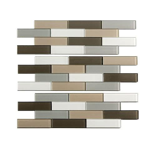 aspect glass tiles aspect subway matted 4 in x 12 in glass decorative tile