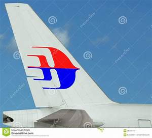 Malaysia Airlines Plane. Logo On Tail. Blue Sky Editorial ...