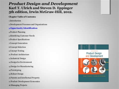 product design and development product design and development ch3