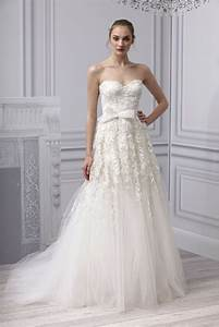 spring 2013 wedding dress monique lhuillier bridal gown With tulle and lace wedding dress