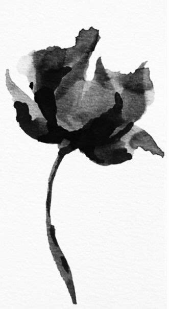 Black and White Poppy | Tattoos and piercings | Pinterest | Watercolor tattoo flower, Poppies