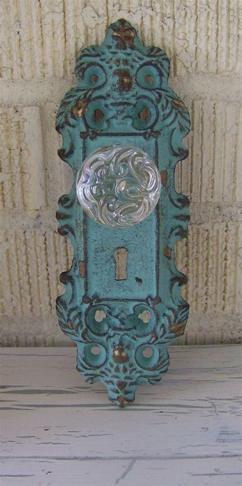 Door Knobs Sydney Vintage by Vintage Inspired Decorative Cast Iron Door Plate And Glass