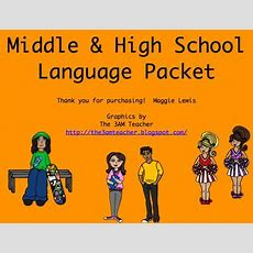 Middle And High School Language From Maggieslp On Teachersnotebookcom (19 Pages) Therapy