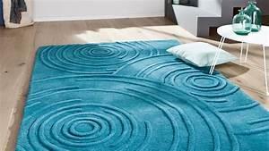 Tapis Bleu Petrole : tapis contemporain tapis agua bleu petr le contemporain ~ Melissatoandfro.com Idées de Décoration
