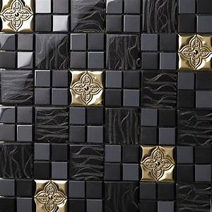glass mix metal mosaic tile patterns metallic bathroom With metallic mosaic bathroom tiles