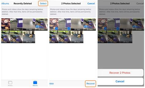 recently deleted photos iphone how to recover deleted photos and pictures from iphone 6 6 Recen