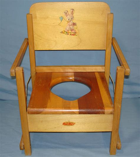 The Potty Chair by Vintage Oak Hill Childs Wood Folding Potty Chair
