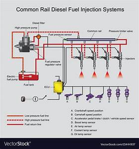 Common rail diesel systems Royalty Free Vector Image