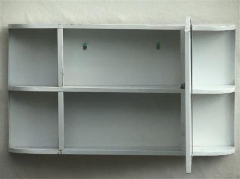 cottage vintage metal medicine cabinet, wall mirror w