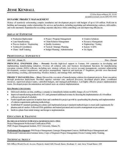 Technical Project Manager Resume Exles by Technical Project Manager Resume Exles Search