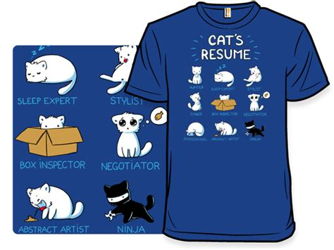 Resume T Shirt by Cat T Shirts From Shirtwoot