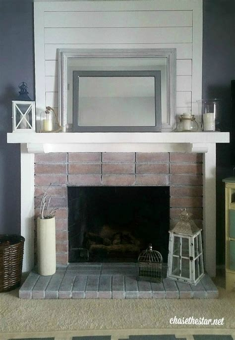 easy fireplace makeover - Easy Brick Fireplace Makeover