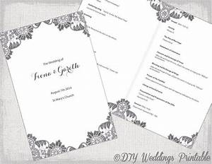 diy catholic wedding program template charcoal gray With catholic church wedding booklet template
