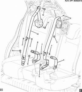 Chevrolet Trax Belt Kit  Seat Belt  Belt Kit  R  Seat  Retr
