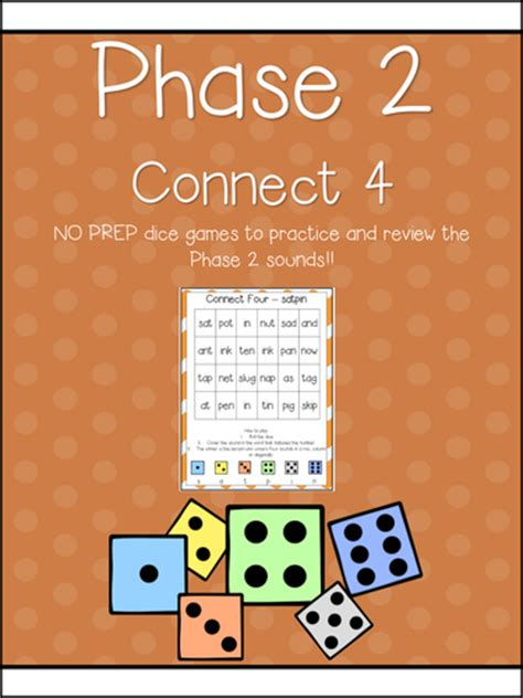 Phase 2 Phonics Dice Games  Center  No Prep!  Letters & Sounds By Rebeccavictoria Teaching