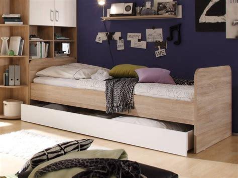 Casper Bett 90x200 Eiche Sonomaweiß