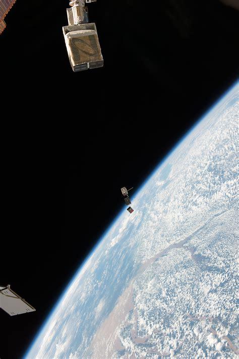 nasa small satellite duo deploys  space station