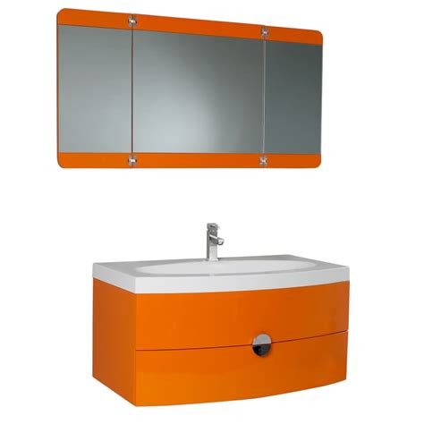 36 25 inch single sink bathroom vanity in orange uvfvn5092or37