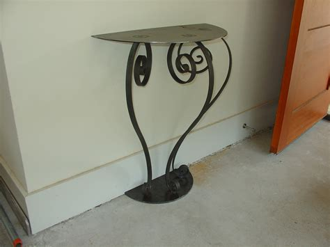 black iron and glass console table very small demilune hall console table with glass top and