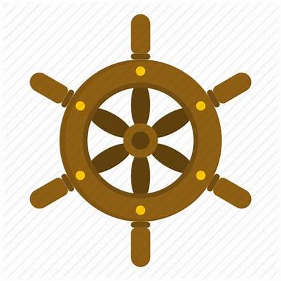 Wheel Ship Steering Boat Nautical Icon Drawing