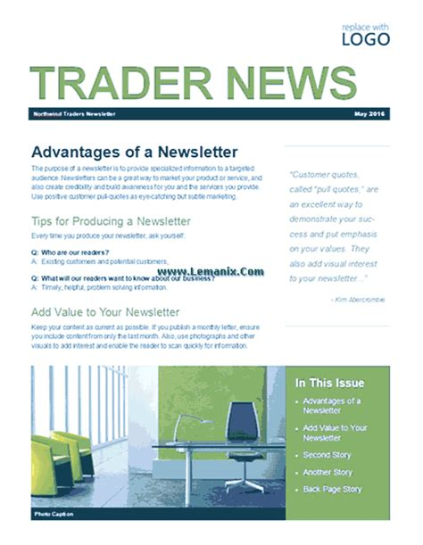 microsoft publisher newsletter templates business newsletter microsoft publisher templates for publisher 2013 or newer software