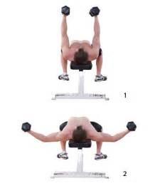 dumbbell flyes fitness oefeningen borstspieren