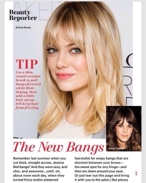 Wispy Bangs Shoulder Length Hair