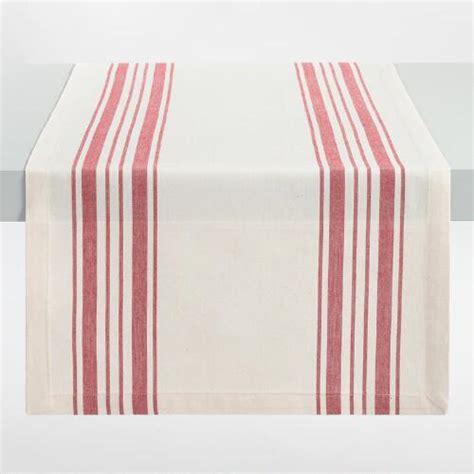 world market table linens red villa stripe table runner world market
