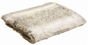 Plaid Blanc Fourrure : plaid en fausse fourrure gris ~ Teatrodelosmanantiales.com Idées de Décoration