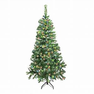 National, Tree, Company, 6, Ft, Canadian, Grande, Fir, Artificial, Christmas, Tree, With, Multicolor, Lights