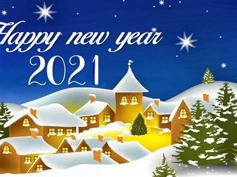 Happy New Year 2021 Best Wishes For Christmas Greetings ...