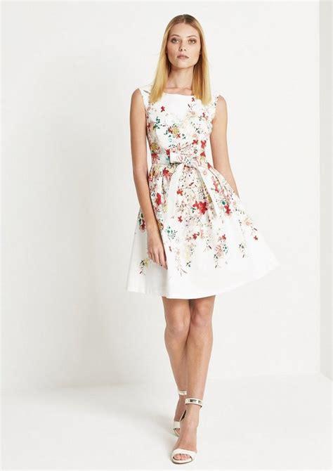 comma elegantes kleid mit floralmuster kaufen otto