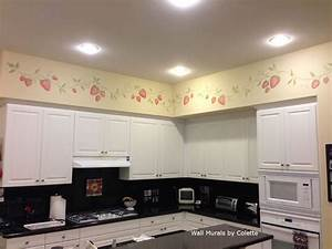 kitchen wallpaper borders fjpg border in kitchen painted With kitchen colors with white cabinets with daniel defense sticker