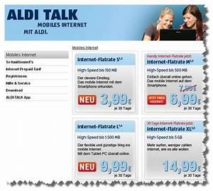 Aldi Talk Abrechnung : aldi talk neue internet flatrates und preissenkung ~ Themetempest.com Abrechnung