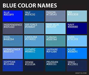 Names And Codes Of All Color Shades