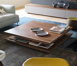 Luxury modern wood coffee table team 7 c3 wharfside for High end coffee tables living room