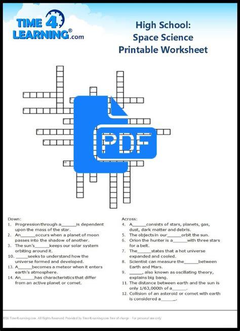 free printable high school space science worksheet time4learning