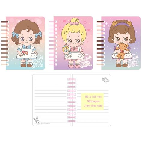 paper doll mate kawaii sally mini notebook kawaii panda