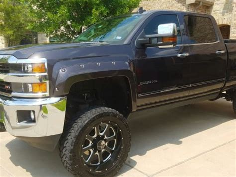 gmc sierra hd denali diesel long bed lifted trucks  sale