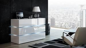 Kommode Weiß Hochglanz 120 Cm Breit : kaufexpert kommode shine sideboard 120 cm wei hochglanz led beleuchtung modern design tv ~ Sanjose-hotels-ca.com Haus und Dekorationen