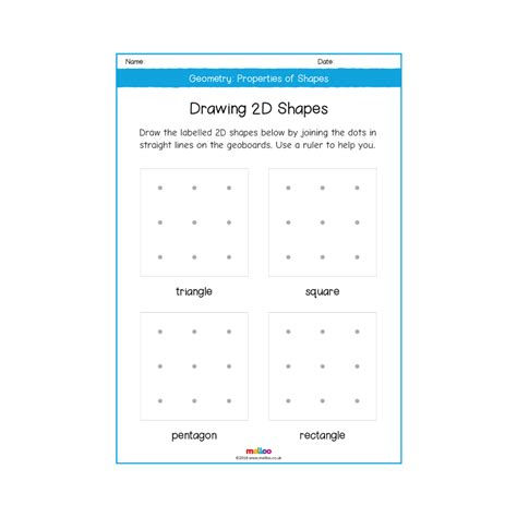 geometry properties of shapes year 2 worksheets maths