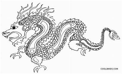 Coloring Pages Dragon Chinese Fairy Printable Dragons