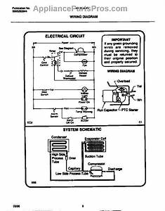 Parts For Frigidaire Mfu20f3bw4  Wiring Diagram Parts